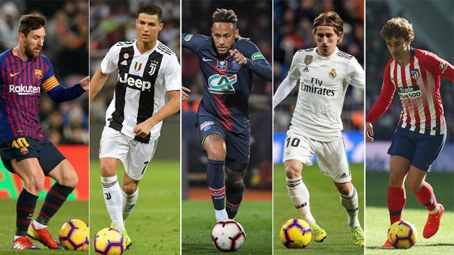 Ronaldo, Messi, Neymar, Bale